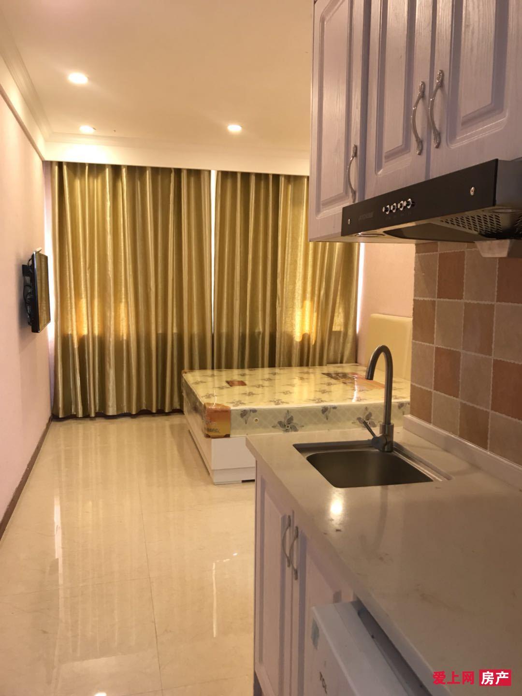 物资新村2楼40平米标准公寓全新精装全新家电配52寸大彩电配网络1.6万/年