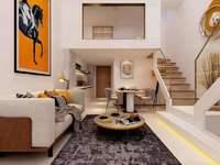 潘华国际朝南挑高复式公寓63平 3房精装 86万