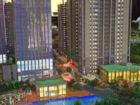 攀华国际15楼63.79平挑高二层三室二厅精装交付新房83万起看楼层定价格CYF