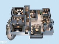 出租汇金公寓21楼一室一厅精装,2.8万年